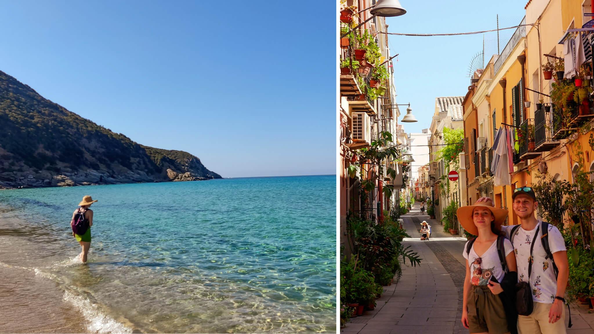 Sardínia - ako ju zvládnuť lowcostovo a nezblázniť sa pri tom dva Batohy